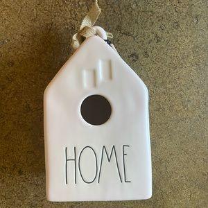 Rae Dunn Accents - NWT Rae Dunn Birdhouse HOME Baby Pink